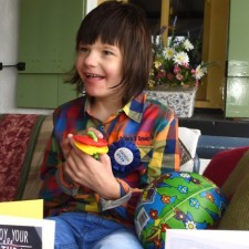 Billy Caldwell enjoying his 11th birthday.  MC 79